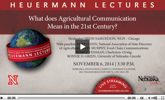 Video presentation titled What Does Agricultural Communication Mean in the 21st Century?